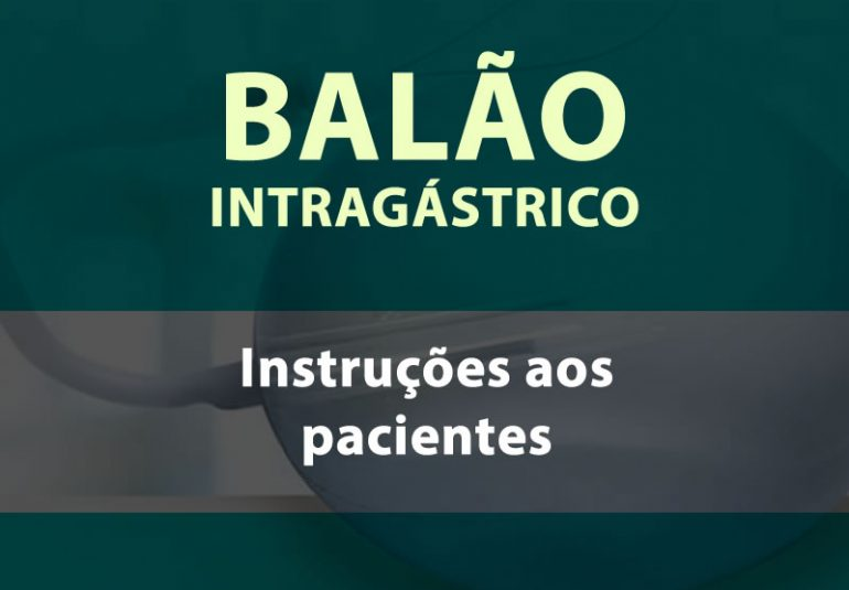instruções do balão intragástrico